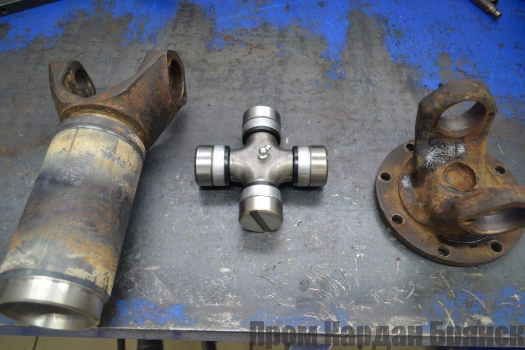 Удлинение и замена вилки, фланца и крестовины кардана